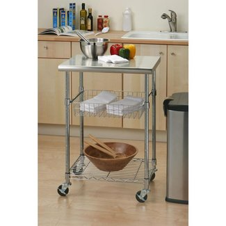 Kitchen island cart storage small table on wheels utility modern