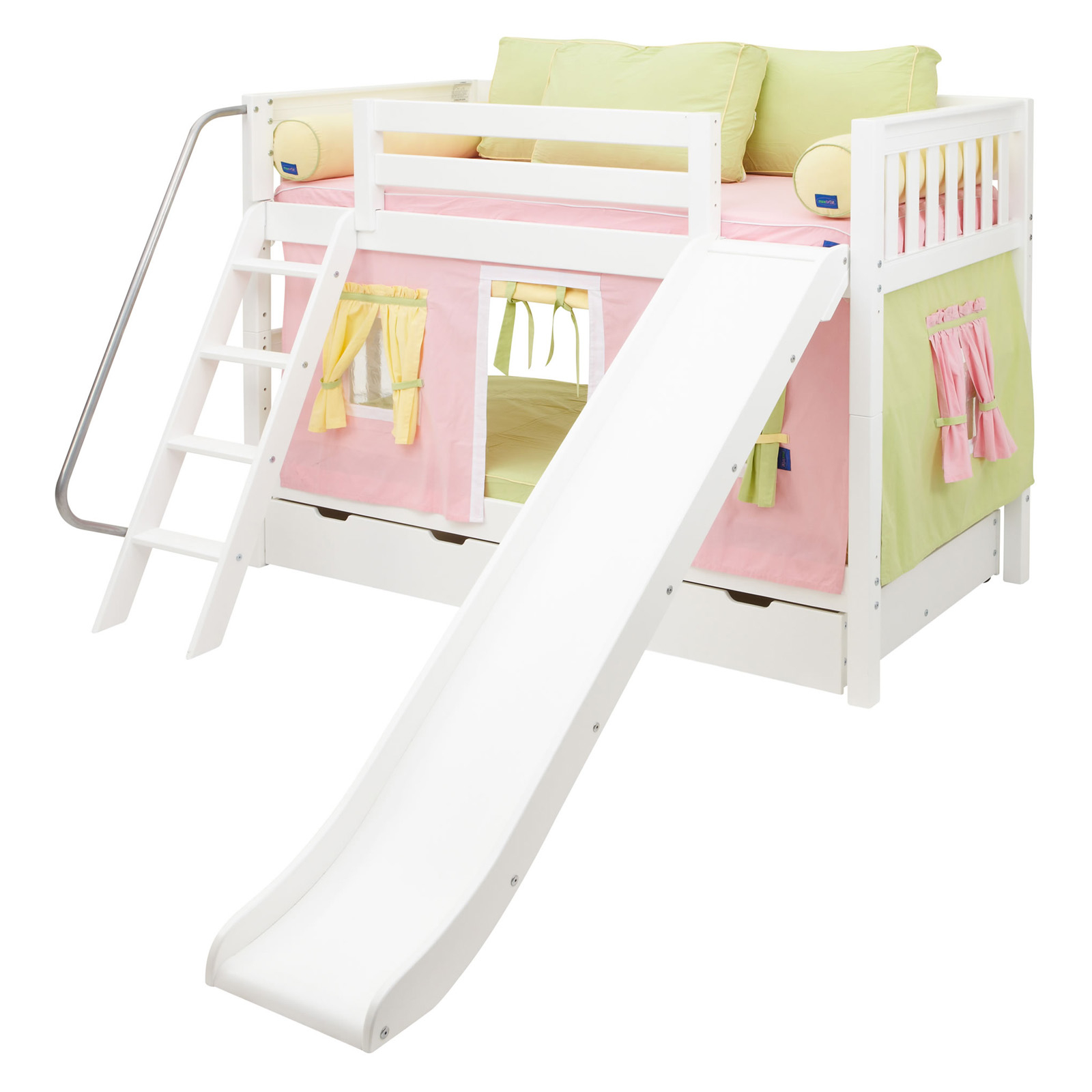 Laugh girl twin over twin slat slide tent bunk bed  sc 1 st  Foter & Twin Over Full Bunk Bed With Slide - Foter