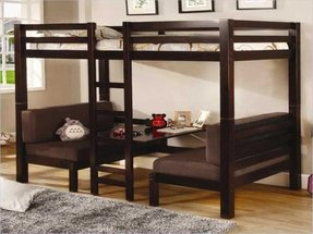 Loft bed with bed underneath 4
