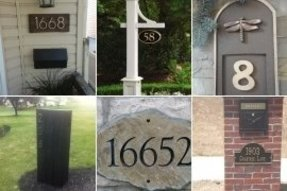 Mailbox plaques numbers