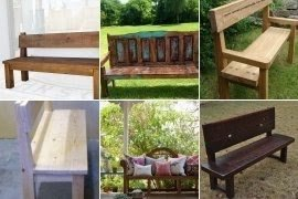 Rustic Bench With Back Foter