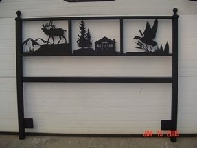 Rustic iron creations can create custom designs to fit your