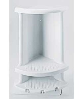 Plastic corner shower caddy foter - White bathroom corner shelf unit ...