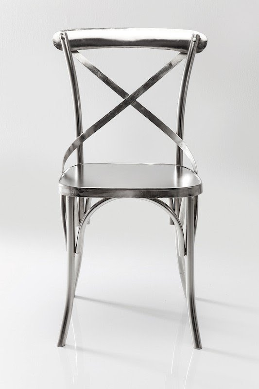 Silver Cross Back Dining Chair Sale 3