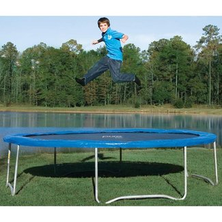 Trampoline without safety net