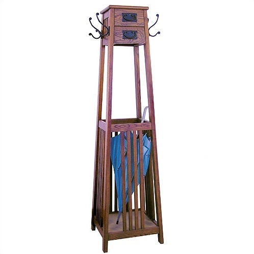 Umbrella Stand Designs : Wooden coat rack with umbrella stand ideas on foter