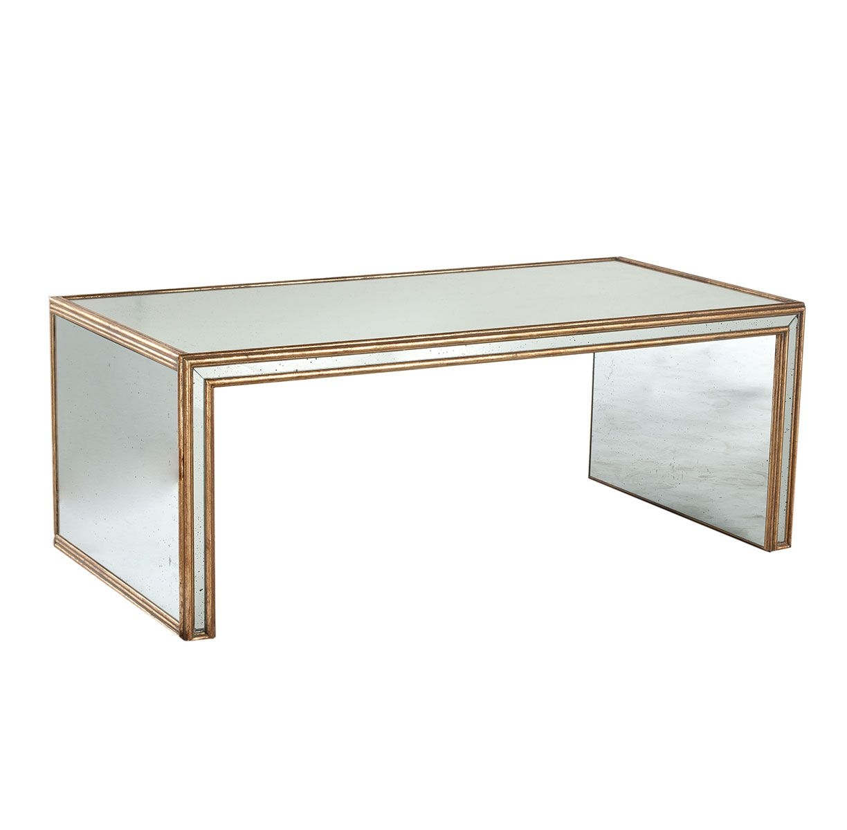 table vintage deco Mirrored coffee art