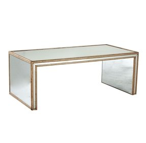 Antiqued mirrored coffee table 1