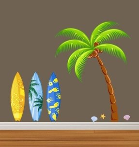 Beach theme wall decals 17