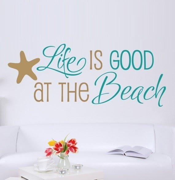 Life/'s a Beach Vinyl Wall Decal Quote Cute Car Life Sticker Wall