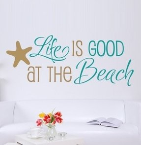 Beach theme wall decals 8