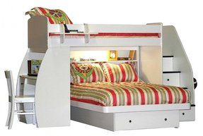 Berg furniture sierra twin over full l shaped bunk bed