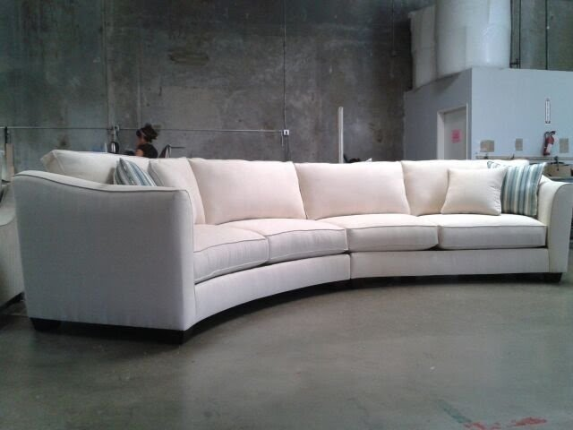 Curved sectional couches