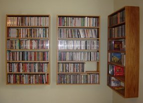 Dvd wall storage