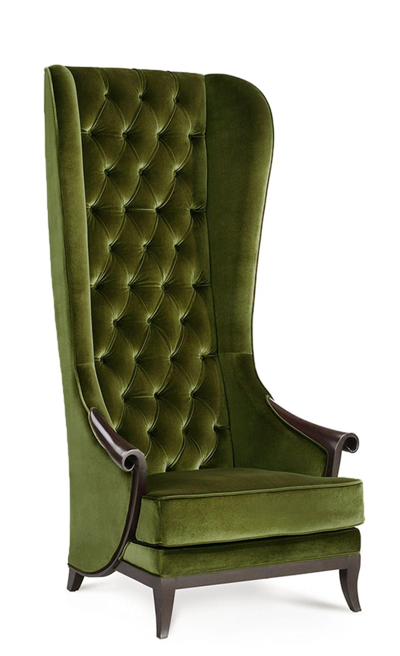 Furniture Designer Chairs High Back Wing Chair Duchess Green Tweet