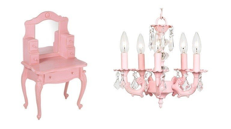 Girls Vanity Table And Stool