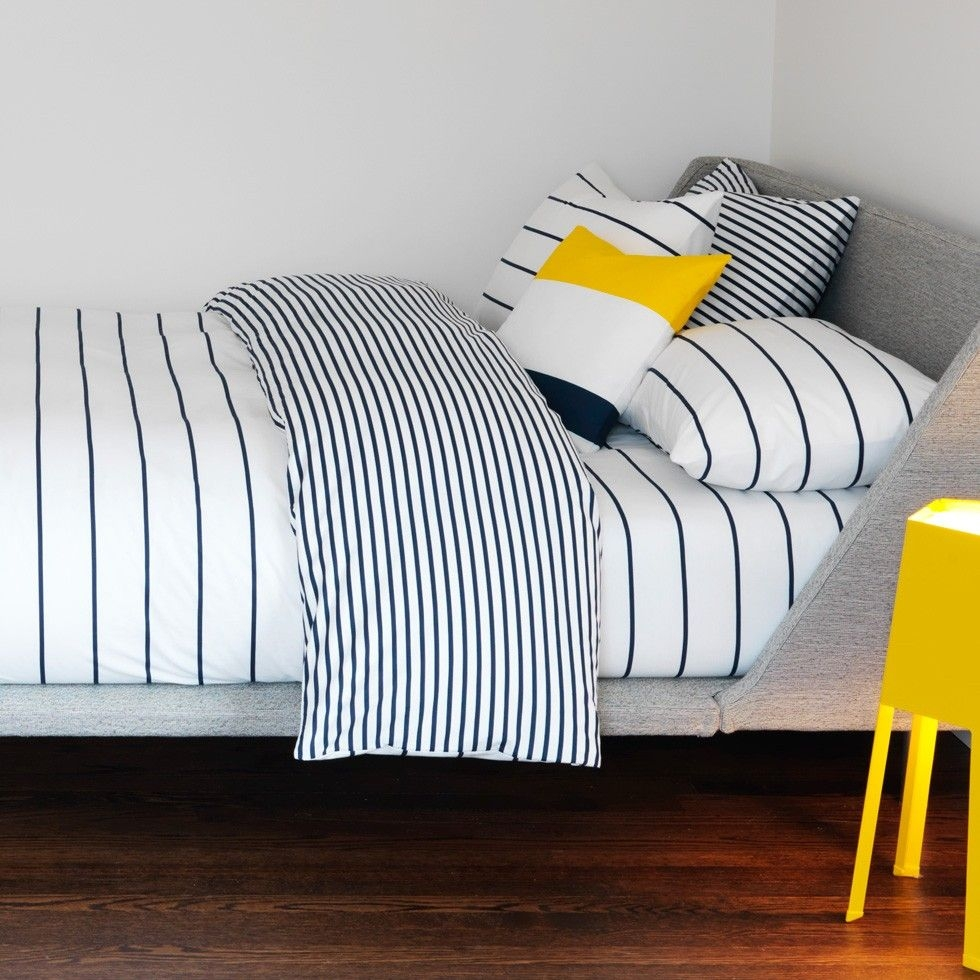Grey And White Striped Sheets
