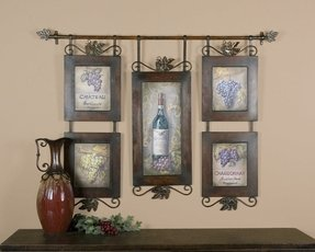 Hanging photo collage frames