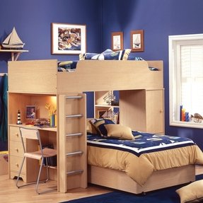 L shaped bunk bed 16