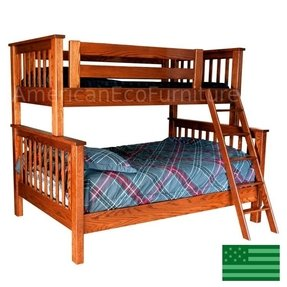 Made in america amish mission bunk bed twin _ full