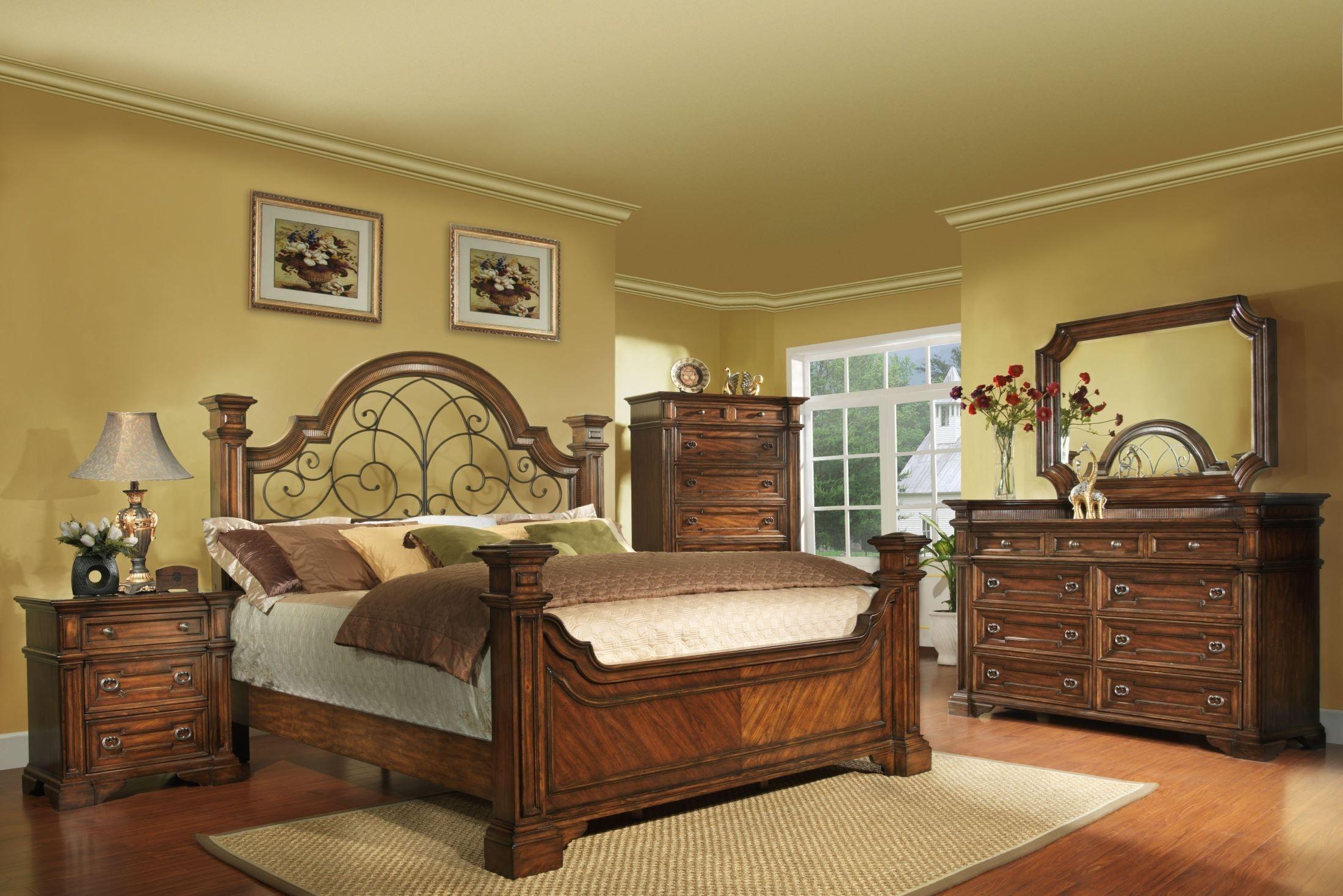 Attirant Metal And Wood Bedroom Sets .