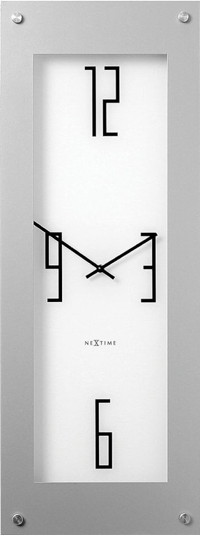 Nextime steel long wall clock white