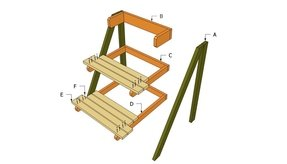Outdoor Plant Stand Plans Free Diy Shed Wooden