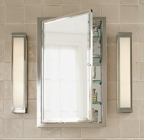 Restoration hardware framed wall mount medicine cabinet