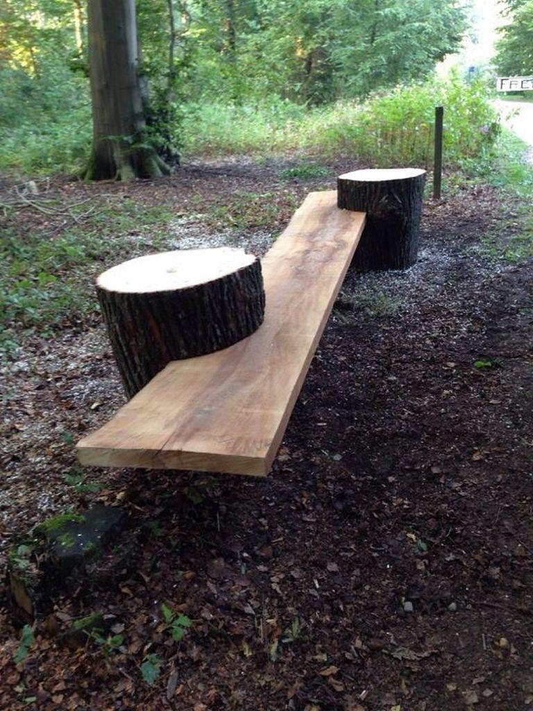 Charmant Rustic Garden Bench 1