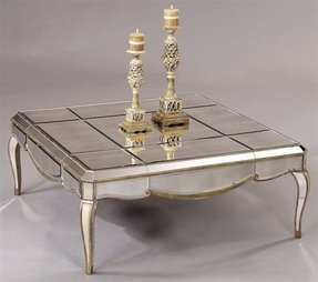 Table with mirror top