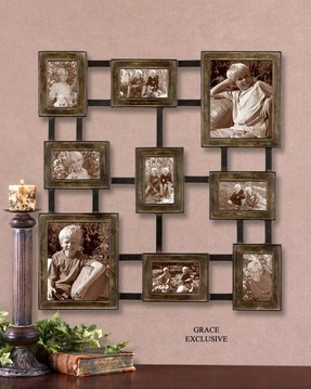 Wall hanging photo frame collage