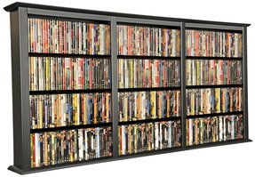 Wall mounted blu ray storage