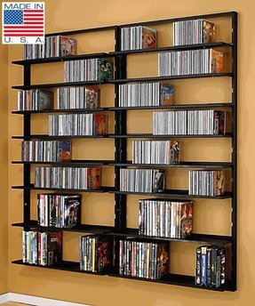 Wall mounted cd dvd storage