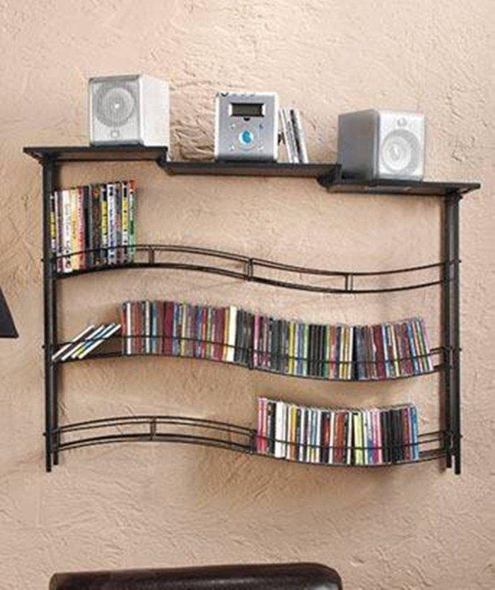 Wall Mounted Cd Storage Shelves