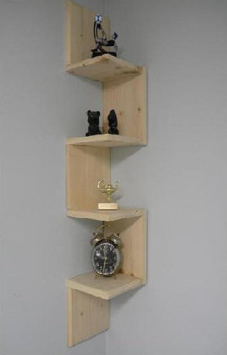 corner wall mounted shelves ideas on foter rh foter com Wooden Corner Shelves Corner TV Bracket with Shelf