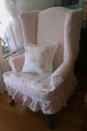 Wingback chair s vintage by vintagechicfurniture gorgeous slipcovers
