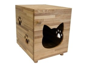 Wooden cat litter box furniture 5