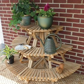 Wooden plant stand plans