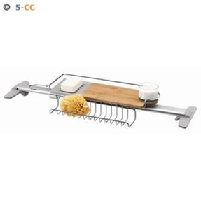 Adjustable bathtub caddy 1
