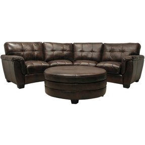 Fantastic Curved Leather Sectional Sofa Ideas On Foter Alphanode Cool Chair Designs And Ideas Alphanodeonline