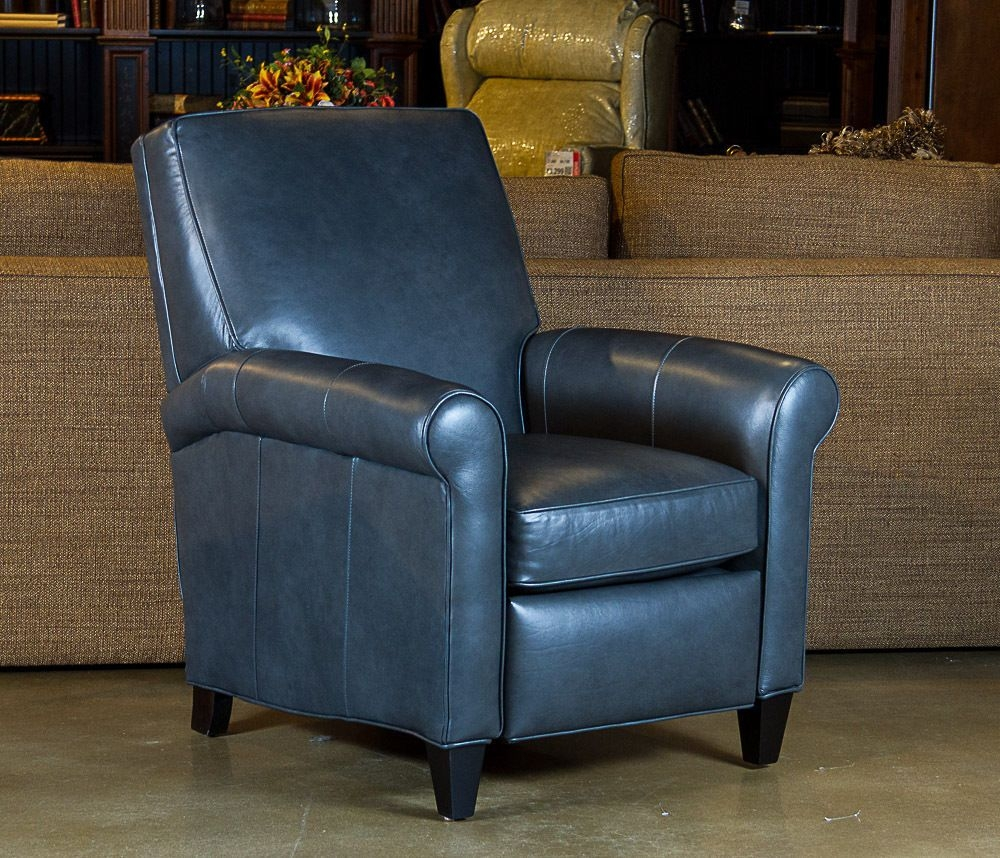 Beau Navy Leather Recliner   Ideas On Foter