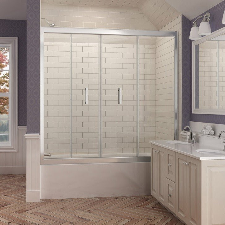 Butterfly 58 to 58-3/4 in. W x 58 in. H & Folding Bathtub Doors - Foter