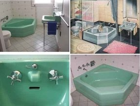 Colored bath tubs