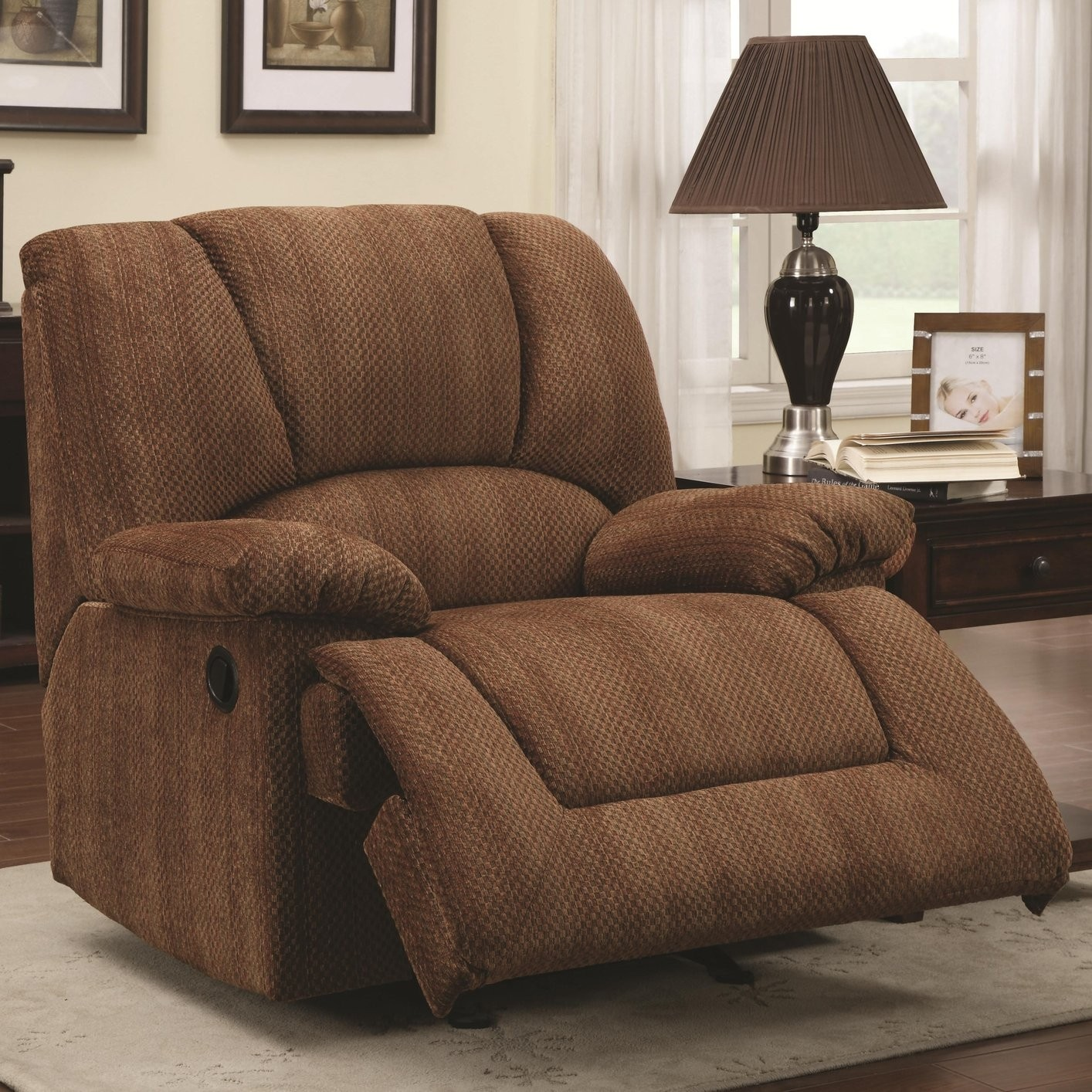 Extra Large Glider Rocker Recliner Chair With Wide Sitting Area