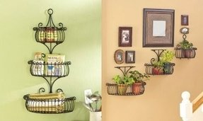 Metal wall mounted shelves