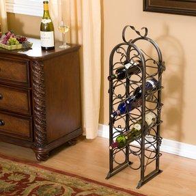 Metal Floor Standing Wine Racks Ideas