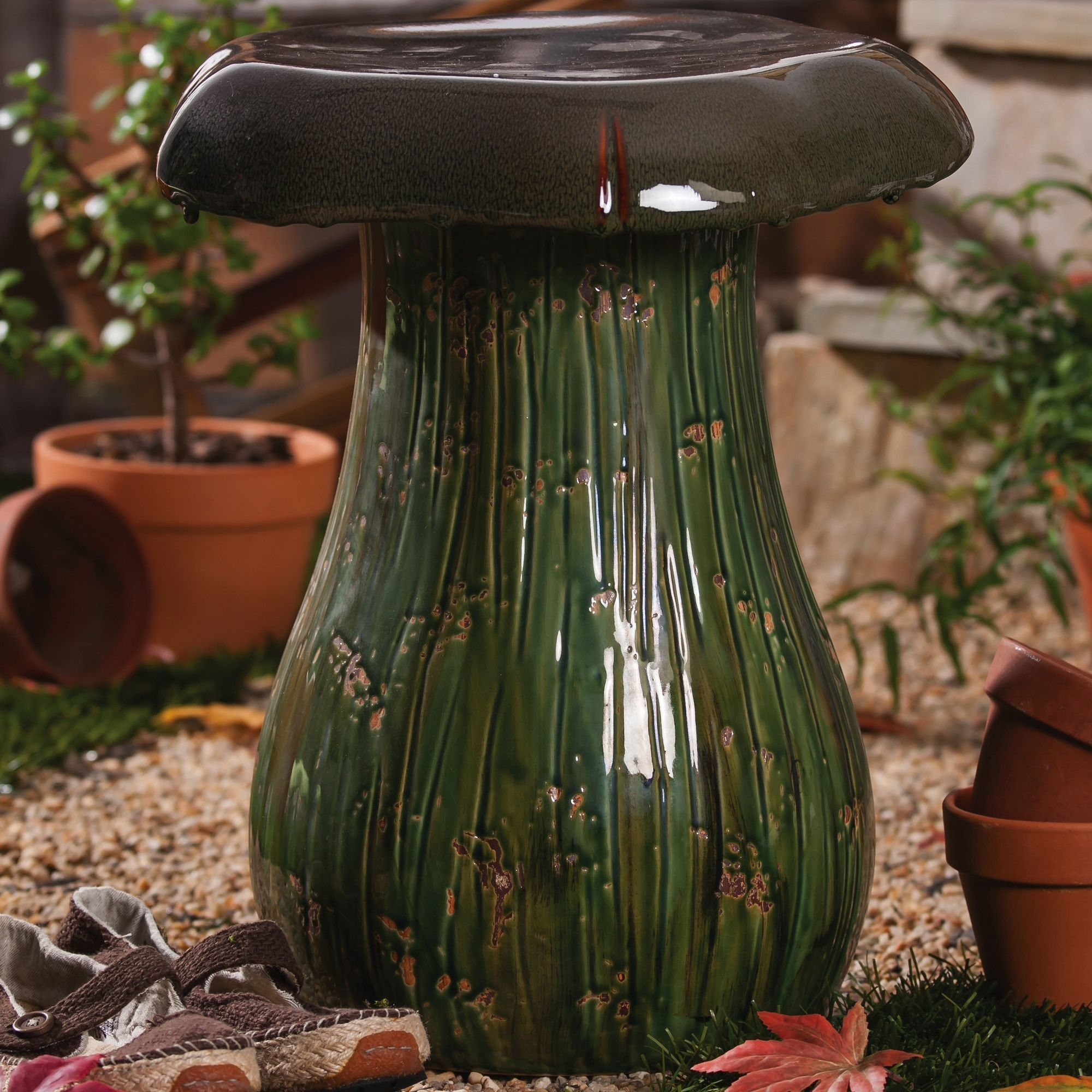 Outdoor Ceramic Stool 2