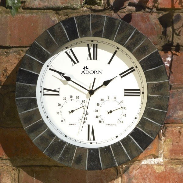 Outdoor Clock Thermometer Barometer