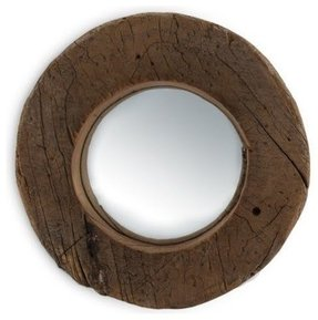 Round mirror wood frame 1