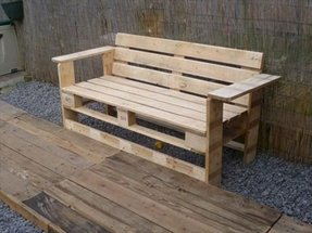 Rustic outdoor benches 4
